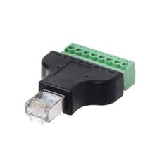 RG45 8P8C контактный металлический кабель Модульные вилки Винтовые клеммы адаптер