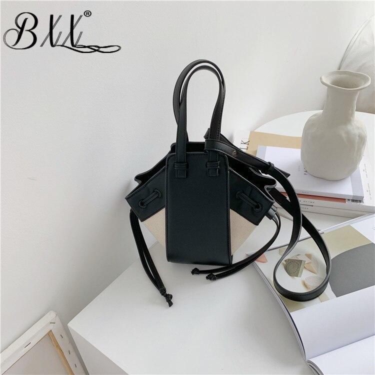 BXX Sac / 2019 Luxury Women Handbags Designer Creative Pu Stitching Contrast Color One Shoulder Large Capacity Bucket Bag ZC644