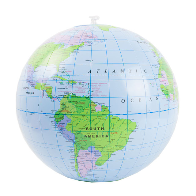 Inflatable Earth Globe Bouncing Ball