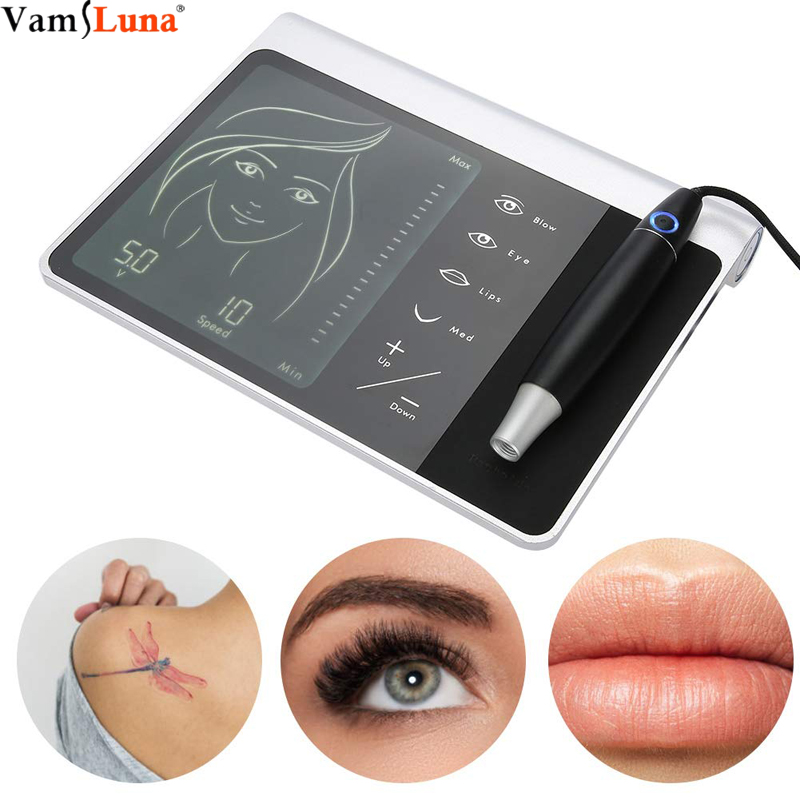 Tattoo Pen Machine Kit With Touch Screen, Semi Permanent Tattoo Set For Eyebrow, Lip And Eyeliner, Digital Multifunction