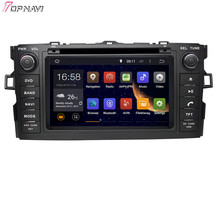 Quad Core Android 5.1 Autoradio Pour TOYOTA AURIS/COROLLA BERLINE/COROLLA 2012-Avec Wifi BT GPS Map16 GB Flash
