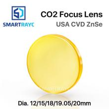 Smartrayc Focus Lens USA CVD ZnSe DIA 12 15 18 19.05 20 FL 38.1 50.8 63.5 76.2 101.6 127mm for CO2 Laser Engraving Cutting co2 laser focus lens usa cvd znse material dia 19 05mm fl 38 1mm