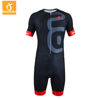EMONDER Triathlon Cycling Jersey Quick Dry Sleeveless Cycling Skinsuit Bike Jersey Clothes For Swimming Running Riding