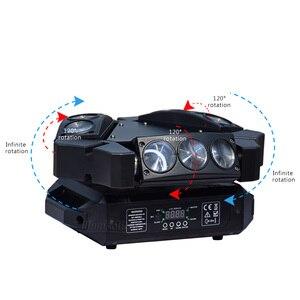 Image 3 - מיני עכביש אור 9x12w הזזת ראש Beam מסיבת אור Dmx512 Led דיסקו מנורת שלב אפקט תאורה