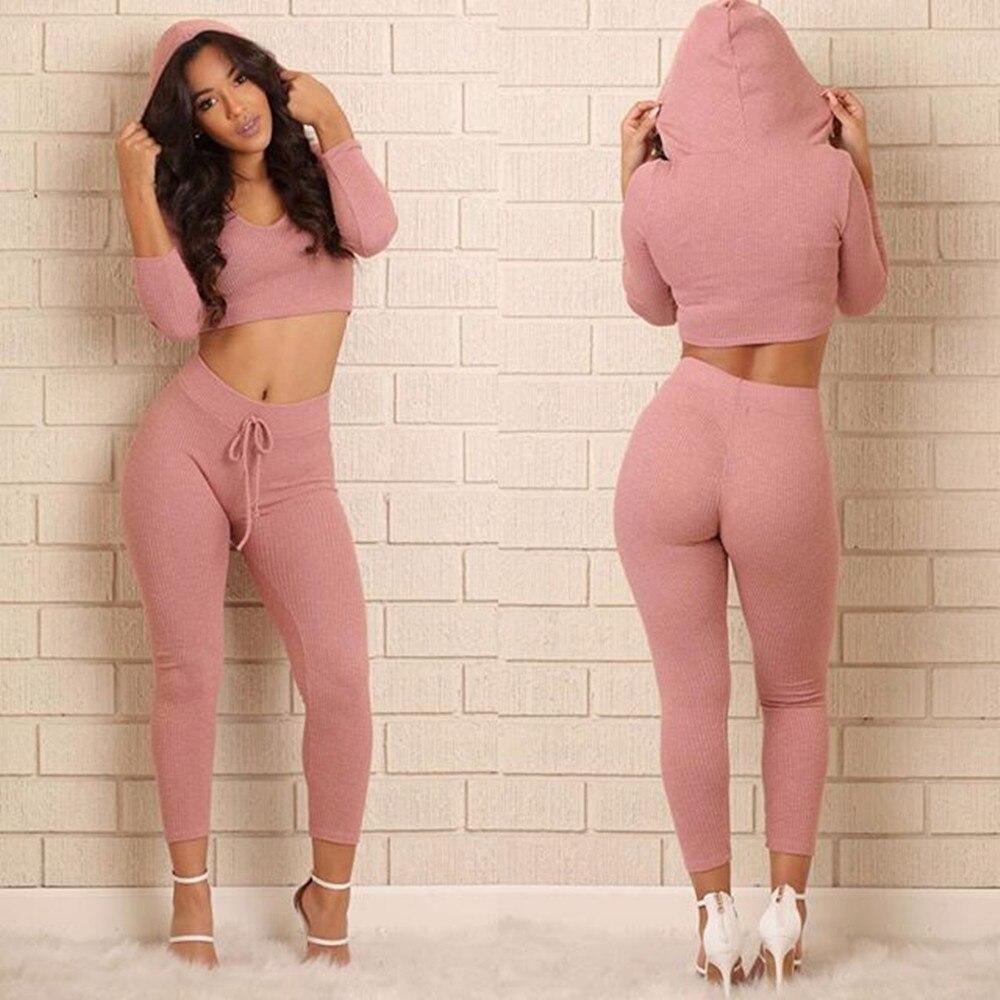 277025ea Brand Pink Rompers Tracksuit 2 piece Set Women Set Winter Sport Suit Women  Short Hoodies Pants Set Sweat Suits Survetement Femme