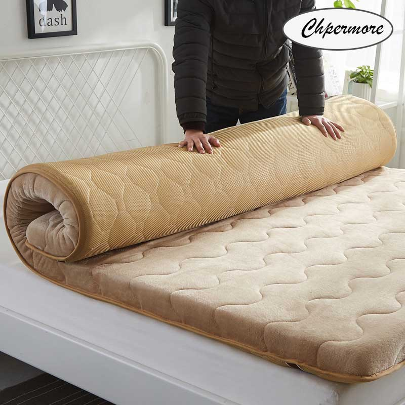 Chpermore Thicken Mattresses Keep warm Foldable Tatami Single double 100% cotton Mattress For Family Bedspreads King Size