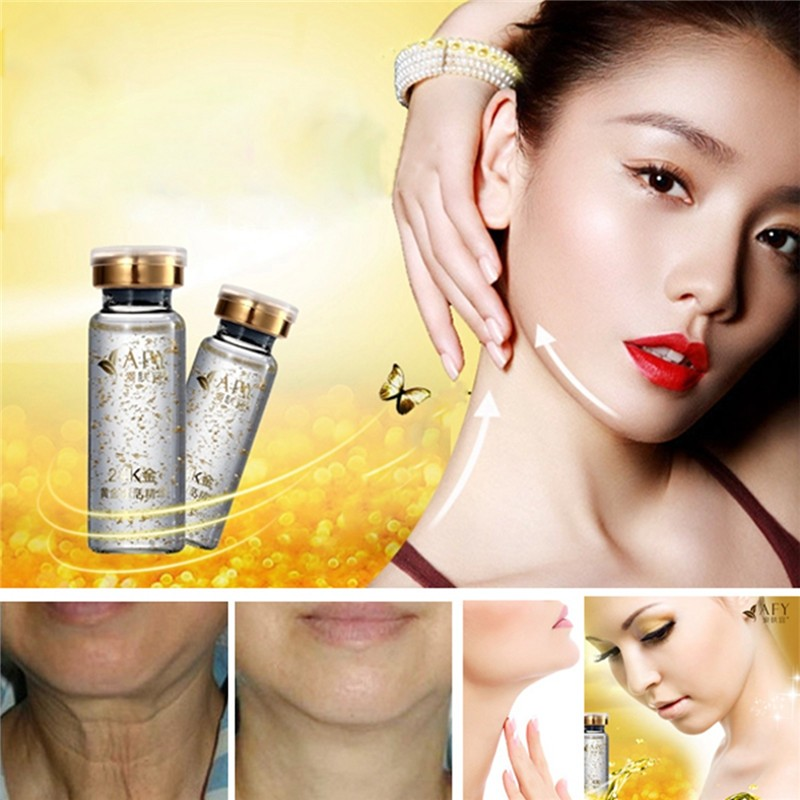 AFY 24K Gold Neck Serum Cream Essence Neck Anti Wrinkle Effective Neck Firming Cream For Tighten Skin High-end Neck Skin Care
