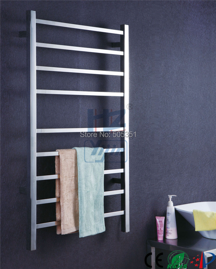 Decorative Towel Warmers : Square tube towel racks stainless steel electric