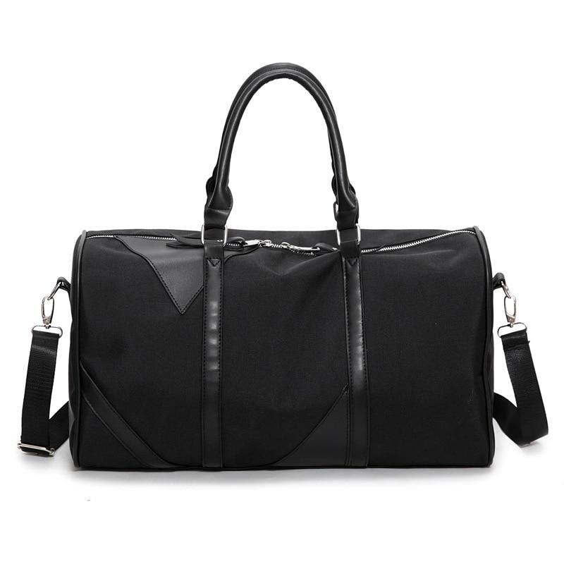 Big Travel Bag Large Capacity Men Women Hand Luggage Packs Oxford Out door Purse Weekend Duffle Shoulder Messenger Black Offroad