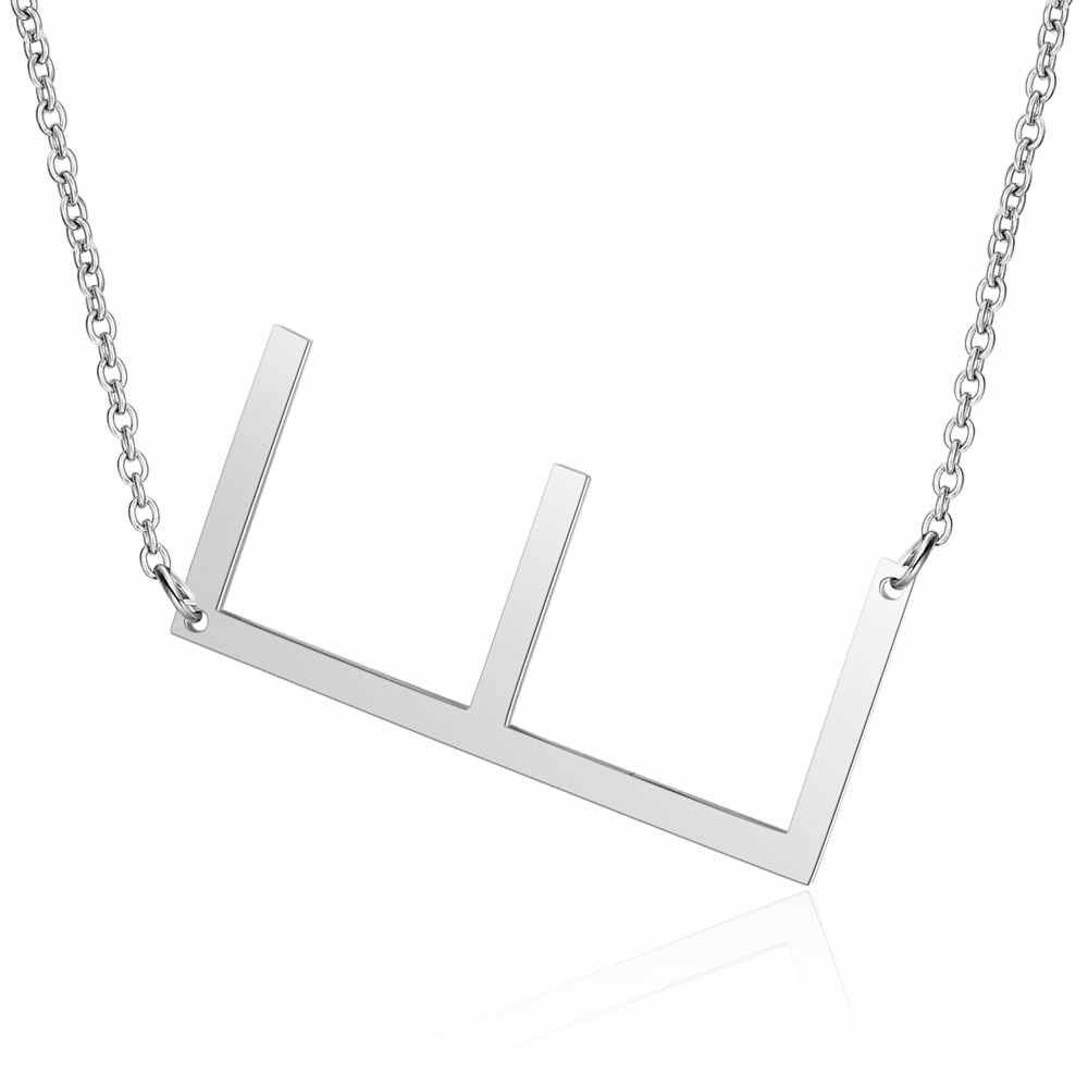 100% нержавеющая сталь, начальное название, ожерелье с подвеской для женщин 316L, подвески с буквами из нержавеющей стали, ожерелье 2019, новинка, хит