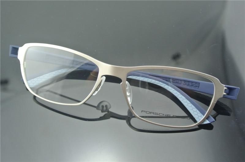 New Arrive TR 90 9061 Silver Frame+Blue Temple Eyeglass Frames ...