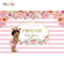 Yeele Newborn Girl Princess Pink Photography Backdrop Baby Shower Party Customized Photographic Backgrounds For Photo Studio sensfun masha and the bear photography backdrop for photo studio newborn baby shower children birthday party backgrounds