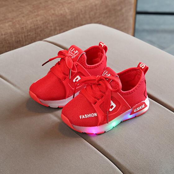 Children Shoes With Lights Glowing Sneakers New Kids Led Shoes Light Up LED Slipper Boys Girls Baby Shoes Luminous Sneakers
