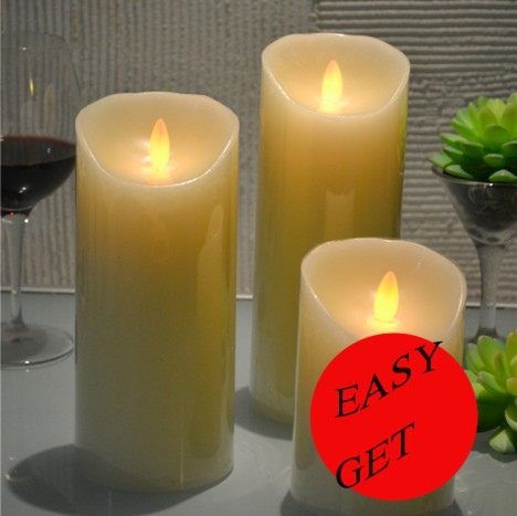 D8cm * H12CM fairy Battery luminaria LED candles night light flickering wick Wax festive home rooms indoor lighting decoration
