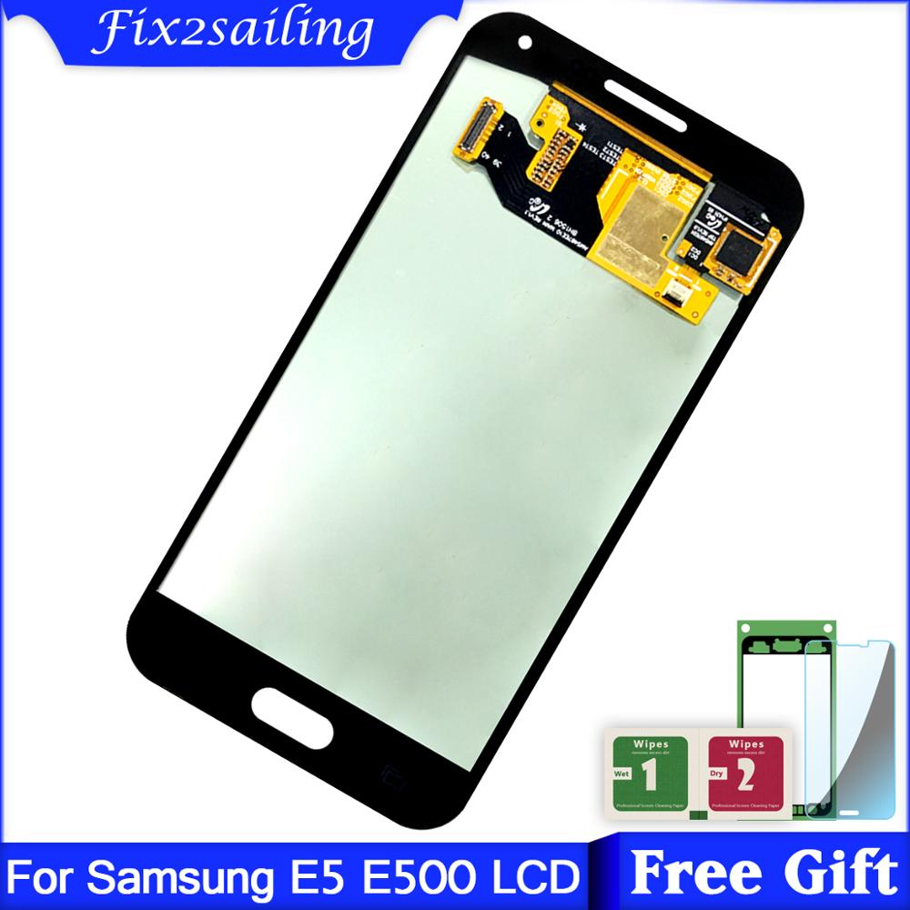 Super AMOLED Display Für Samsung Galaxy E5 <font><b>E500</b></font> E500F E500H E500M <font><b>LCD</b></font> Display + Touch Screen Digitizer Montage Top Qualität <font><b>LCD</b></font> image