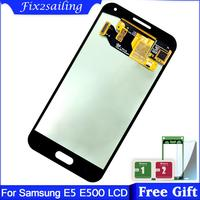 Super AMOLED Display For Samsung Galaxy E5 E500 E500F E500H E500M LCD Display + Touch Screen Digitizer Assembly Top Quality LCD