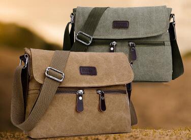 Business Satchel Korean Version Of Canvas Bag Shoulder Messenger Bag