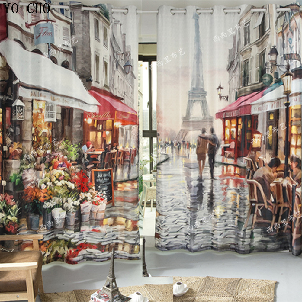 Eiffel Tower 3d curtains Blackout curtains fabric curtains for living room drapes bedroom window Christmas Paravent room dividerEiffel Tower 3d curtains Blackout curtains fabric curtains for living room drapes bedroom window Christmas Paravent room divider