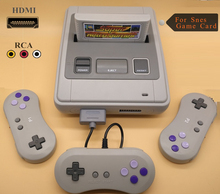 HDMI Retro TV Video Game Console For Snes Game Cartridges with 2 Wireless+1 Wired Gamepads Free Game Card with 344 Games for Nes