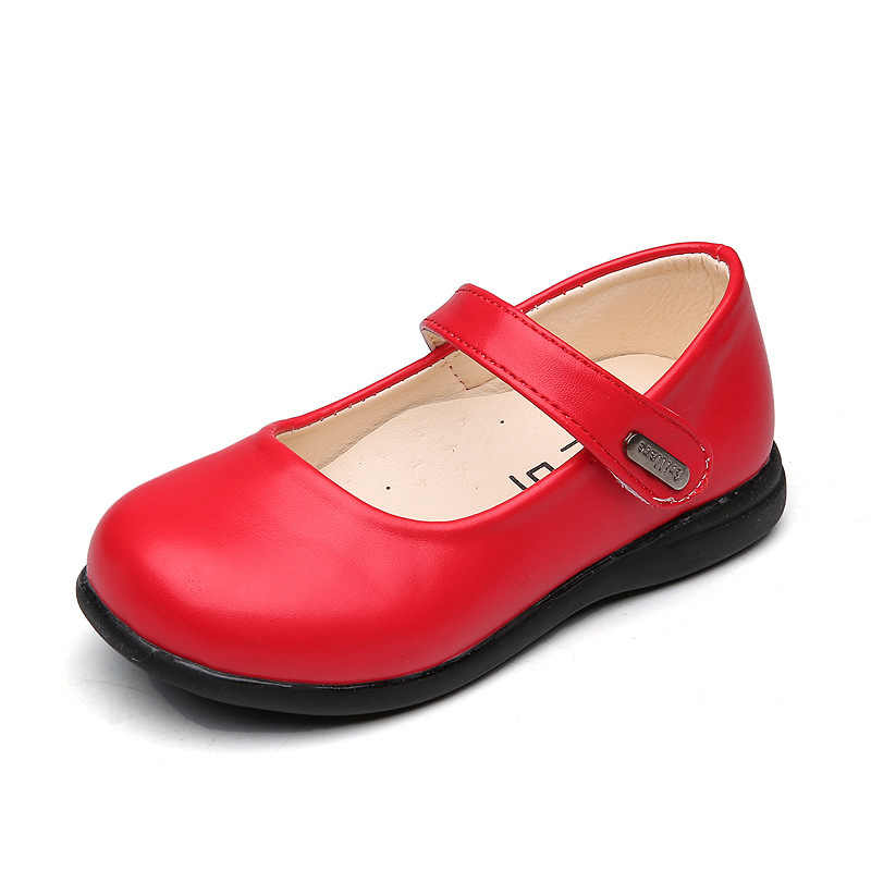 ... Children dance shoes black red white girls leather shoes soft toddler  casual party princess shoes 2019 ... 819ff9472290