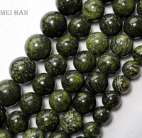 Free Shipping 3 Strands Set Natural 10mm Russian Serpentine Smooth Round Loose Beads Mixed Gem Stone
