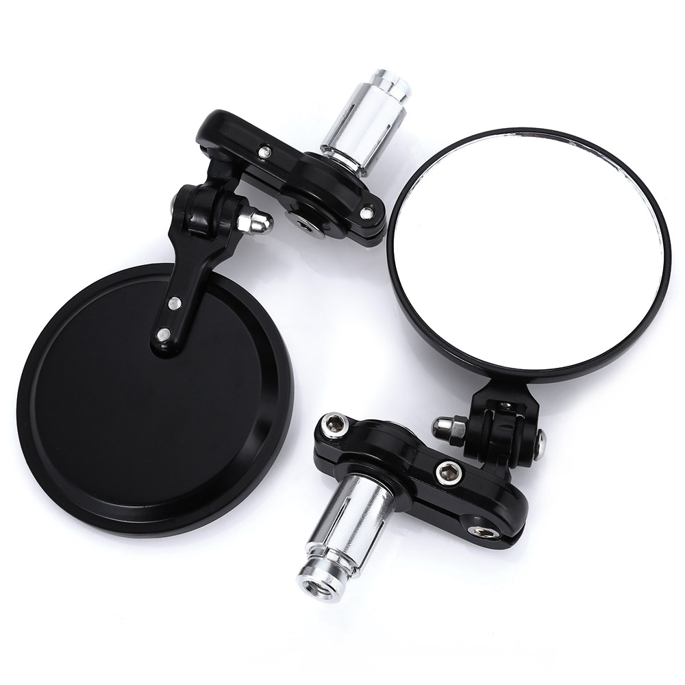 YSMOTOGO Universal Side Mirrors 7/8Round Bar End Rear Mirrors Motorcycle Scooters Rearview Mirror For Handle Bar End Mirrors