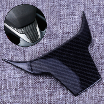 DWCX Car Steering Wheel Cover Trim Carbon Fiber Texture Decoration Accessories Fit for Honda CRV 2017 2018 image