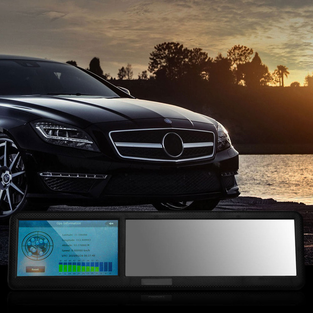 Nueva Llegada de 4.3 pulgadas de ALTA DEFINICIÓN de Pantalla Táctil Bluetooth Espejo Retrovisor Con GPS Mini ABS América Mapa de Navegación 8 GB FM Navigator tk102b