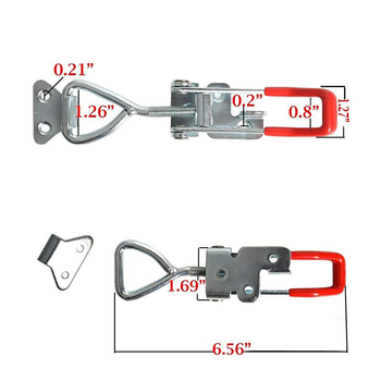 4 Pcs Toggle Latch Clamp Einstellbar Toolbox Hebel Griff Toggle Latch Fangen Lock Clamp Haspe Edelstahl