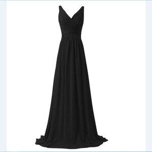 Image 2 - Lly1130t # vestidos de noiva, para festa de casamento, baile, moda feminina, decote em v, longo, com renda, azul céu