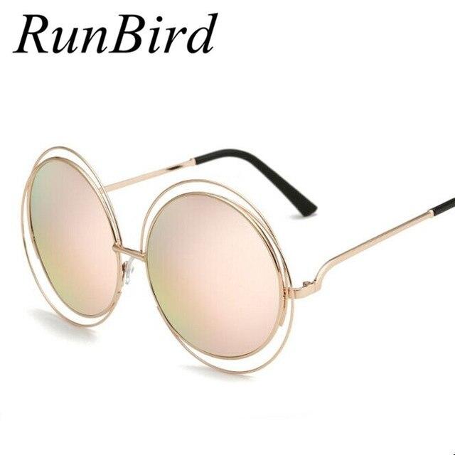 2351d00dd TOP QUALITY Big Marca Designer Mulheres Óculos De Sol Do Metal Rodada óculos  De Armação de