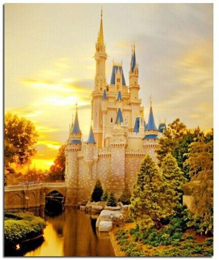 golden castle 30x40 diamond painting cross stitch full diamond embroidery edding decoration round drill christmas gift