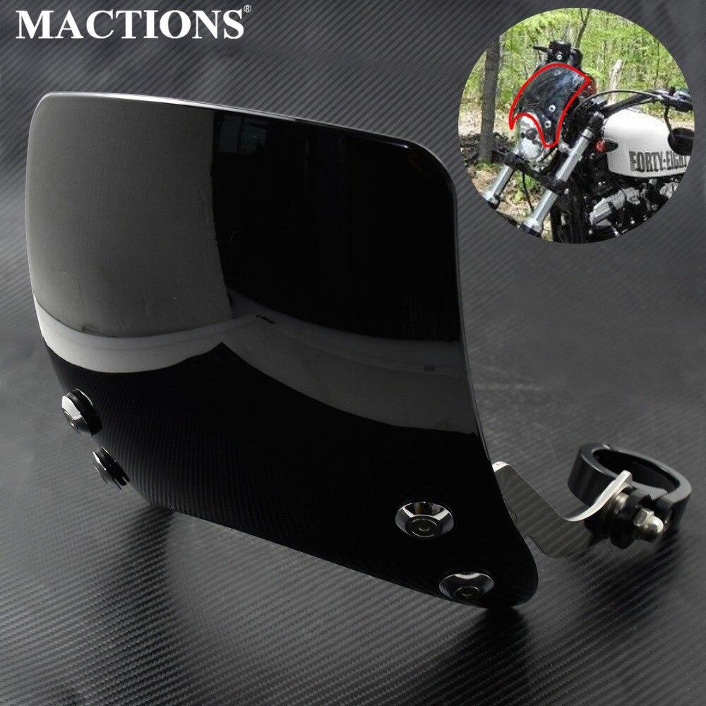 Motorbike Black Windscreen 39mm Windshield Aluminum For Harley Sportster XL 883 1200 Models 2004 2005 2006