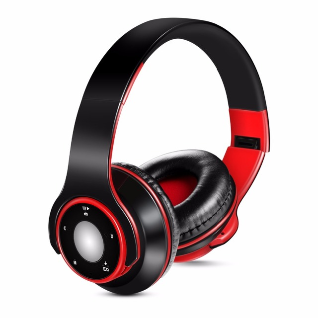 Free Shipping Colorful Stereo Audio Mp3 Bluetooth Headset Wireless Headphones Earphone Support SD Card with Mic Play 20 Hours 1