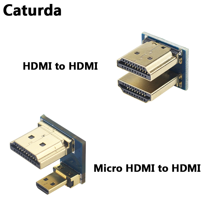 Raspberry Pi 4 Micro HDMI To HDMI Adapter Raspberry Pi 3 HDMI To HDMI Converter For 3.5'' 5 Inch HDMI Touch Screen LCD Display