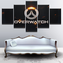 5 Pieces Home Game Overwatch Logo Painting HD Print Artwork The Wall Art Paintings Canvas Living Room