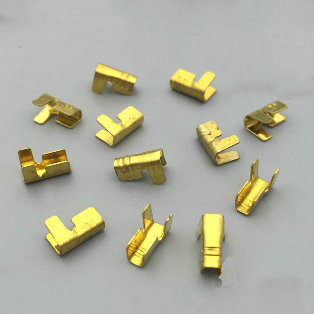 100pcs/lot 452-1/2 U-shaped terminal tab cold inserts connectors / terminal connector cable / wire cable lug,0.2-0.75mm2 цена