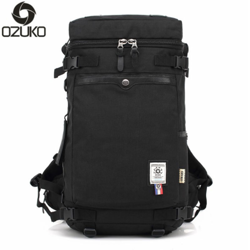 OZUKO Men Backpack Large Capacity Waterproof Oxford Cloth Men Multifunctional Travel For Teenagers Notebook Computer Backpack