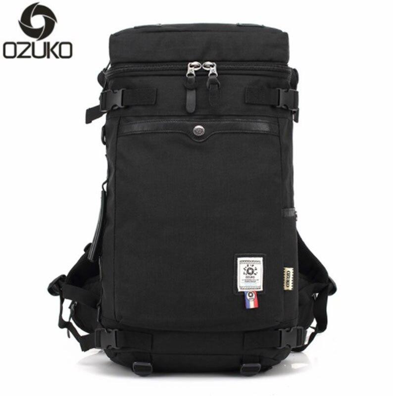 OZUKO Men Backpack Large Capacity Waterproof Oxford Cloth Men Multifunctional Travel For ...