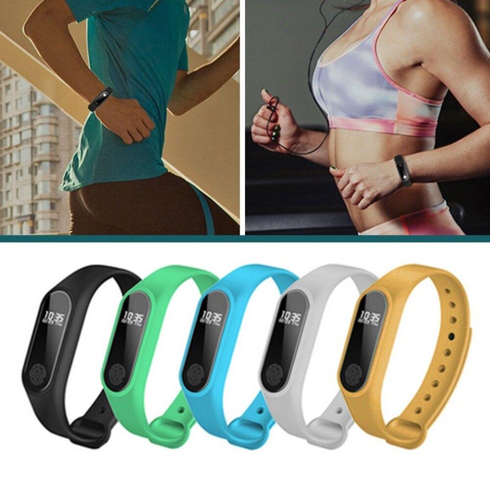 Dormir ronquidos M2 impermeable Bluetooth banda inteligente deporte pulsera dormir Monitor inteligente pantalla OLED de corazón
