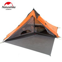 Naturehike Spire 1 Person Awning Tent Ultralight Outdoor Camping Double Layer Tent Waterproof Picnic Tent with Mat NH17T030 L