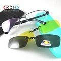 Óculos de Armação de Óculos Ópticos Quadros Óculos de Armação 2 PCS Magnética Clip sobre Óculos Polarizados Óculos de Visão Noturna Amarelo