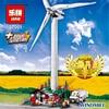 Bevle Store LEPIN 37001 873Pcs Technic Series Electric Motor Vestas Wind Turbine Building Blocks Bricks Toys