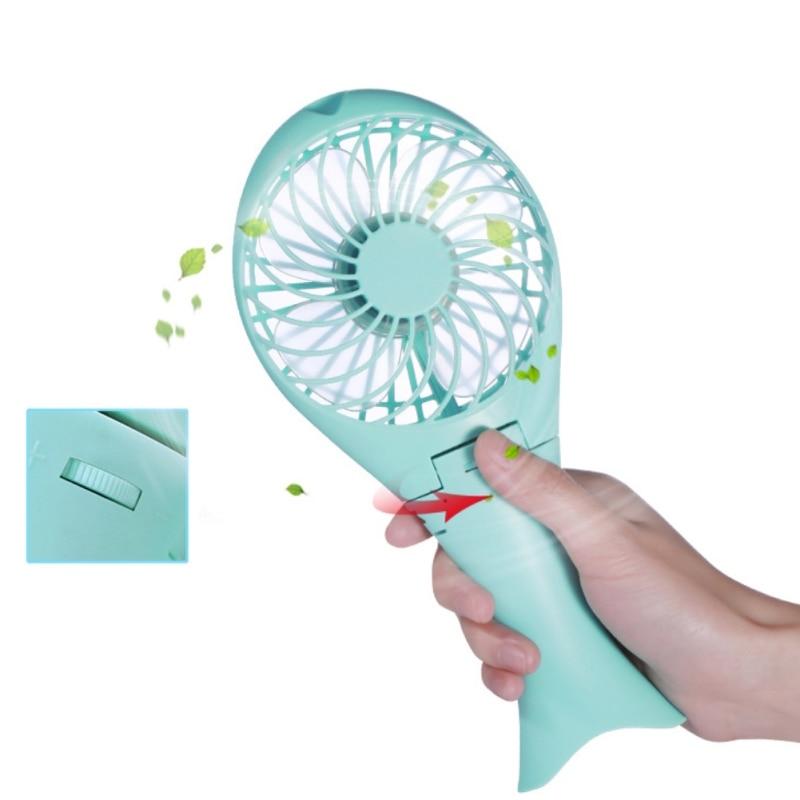 2018 New Usb Charging Mini Fan Portable Outdoor Folding Mermaid Handheld Mini Fan Pink Bedroom Fan Tools
