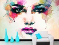 [Self Adhesive] 3D Graffiti Woman Face 232 Wall Paper mural Wall Print Decal Wall Murals