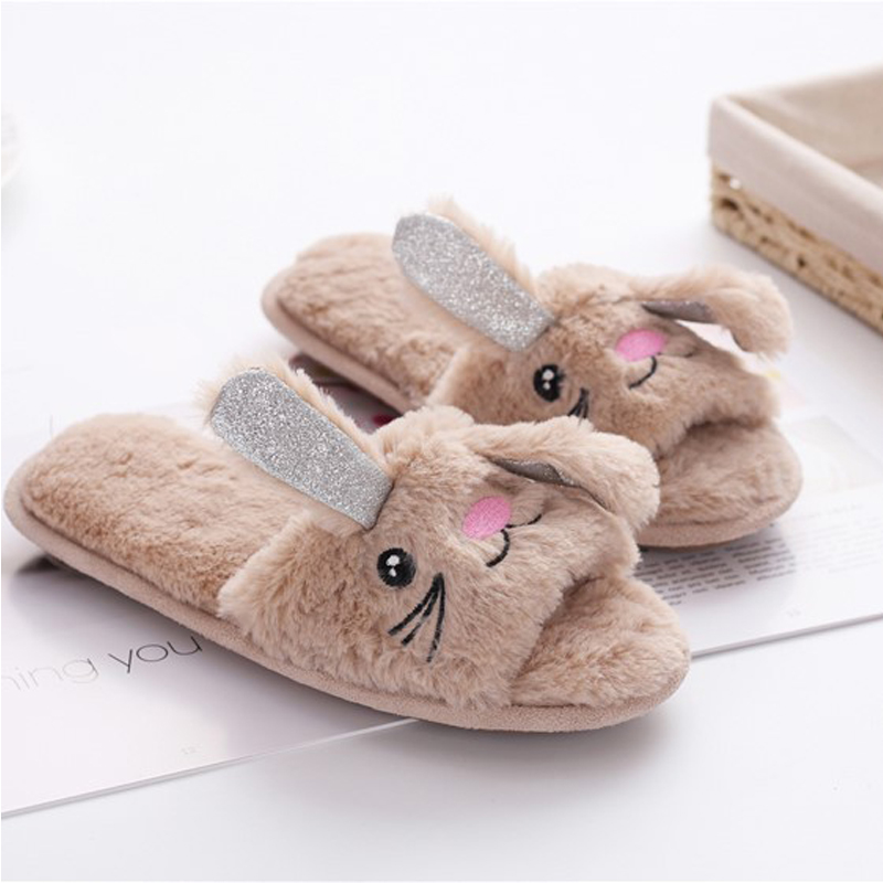 84f7d6ee3d5 Unicorn Shoes Kids Slippers Children Barefoot Shoes Girls Flip Flops Boys  Fur Funny Slippers Winter Warm Cotton Home Shoes 35 42-in Slippers from  Mother ...