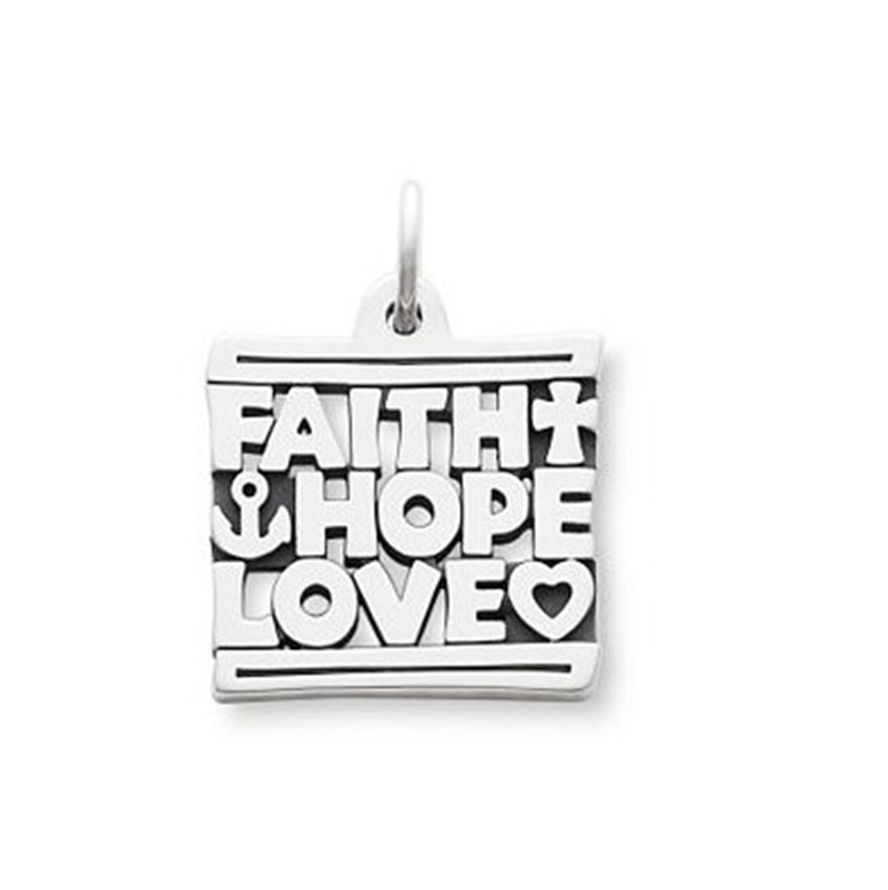 A reminder of the values that endure Faith, Hope & Love Charm