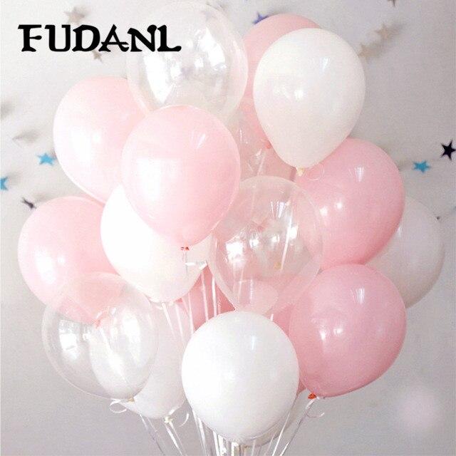 30 шт./лот розовый прозрачный белый круглый воздушные шары прозрачные воздушные шары латексный гелиевый поплавок на день рождения вечерние ...