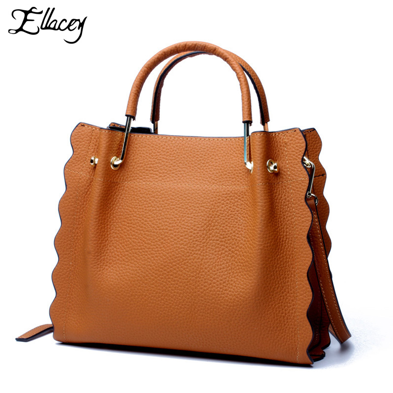 2017 Design Genuine Leather Bag female Handbag Women Tote Bag Women Large Capacity Messenger Bag Cow Leather Handbag Sac a Main esufeir brand genuine leather women handbag cow leather patchwork shoulder bag fashion women messenger bag tote bags sac a main