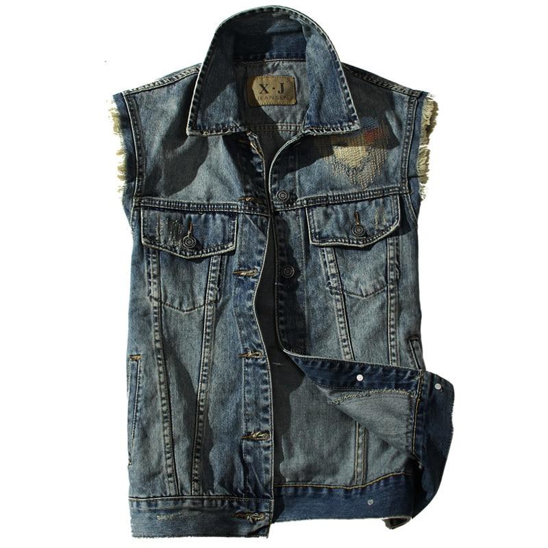 veste 2015 Jeans Jeans courte manches veste Cowboy nouveaux hommes 0UgSzP0